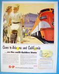 1950 Southern Pacific With The Golden State