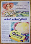 1946 Swift's Allsweet Margarine with Lovely Woman