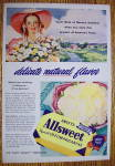 Click to view larger image of 1946 Swift's Allsweet Margarine with Lovely Woman (Image2)