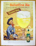 1958 Ballantine Ale with Cowboy Panning For Gold