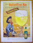 Click to view larger image of 1958 Ballantine Ale with Cowboy Panning For Gold (Image2)