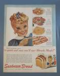 1960 Sunbeam Bread with Blue Eyed Miss Sunbeam