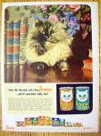 1964 Friskies Cat Food with Fuzzy Cat