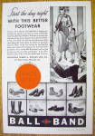 1936 Ball Band Footwear with Woman and Child