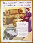 Click to view larger image of 1937 Simmons Couch with Woman Looking At Couch (Image1)