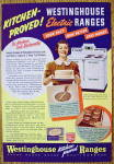 1938 Westinghouse Electric Range w/Woman Holding A Cake