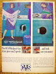 1964 RCA Whirlpool Dryer with Woman Folding Clothes