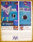 Click to view larger image of 1964 RCA Whirlpool Dryer with Woman Folding Clothes (Image2)