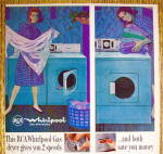 Click to view larger image of 1964 RCA Whirlpool Dryer with Woman Folding Clothes (Image3)