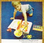 Click to view larger image of 1965 Polycrest Carpeting with Boy Spilling Paint On Rug (Image3)