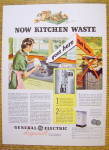 1936 General Electric Disposal w/ Woman Scrapping Plate