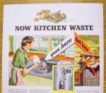 Click to view larger image of 1936 General Electric Disposal w/ Woman Scrapping Plate (Image3)