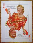 Click to view larger image of 1940 Chesterfield Cigarettes with Queen of Hearts (Image2)