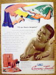 1941 Cannon Towels with Baby On Towel