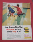 1958 Simoniz Floor Wax with Kids Playing With Bubbles