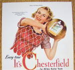 Click to view larger image of 1942 Chesterfield Cigarettes with Woman & Basketball (Image3)