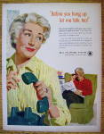 Click to view larger image of 1958 Bell Telephone with Woman Hanging Up Telephone (Image2)