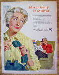 Click to view larger image of 1958 Bell Telephone with Woman Hanging Up Telephone (Image3)