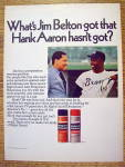 Click to view larger image of 1969 Gillette Right Guard with Baseball's Hank Aaron (Image1)