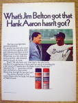 Click to view larger image of 1969 Gillette Right Guard with Baseball's Hank Aaron (Image2)