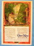 1918 Djer Kiss Face Powder with Girl Pulling Strings