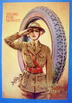 Click to view larger image of 1919 Kelly Springfield Tires with Woman Soldier (Image1)