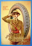 Click to view larger image of 1919 Kelly Springfield Tires with Woman Soldier (Image2)
