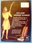 1945 New Hoover Cleaner with Woman  Vacuuming
