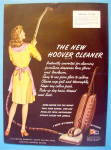 Click to view larger image of 1945 New Hoover Cleaner with Woman  Vacuuming (Image2)