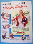 1945 Ovaltine with Young Girl & Morning Freshness