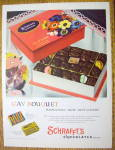 1955 Schrafft's Chocolates with Gay Bouquet