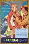 Click to view larger image of 1935 General Tire with Woman Tying Girl's Poncho (Image2)