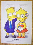 Click to view larger image of 1997 Milk with Bart & Lisa Simpson (Image1)