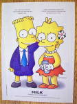 Click to view larger image of 1997 Milk with Bart & Lisa Simpson (Image2)