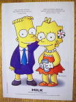 Click to view larger image of 1997 Milk with Bart & Lisa Simpson (Image3)
