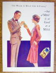 Click to view larger image of 1929 Camel Cigarettes with Woman Giving Man Cigarette (Image2)