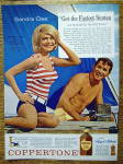 Click to view larger image of 1963 Coppertone Suntan Lotion w/Sandra Dee (Image1)