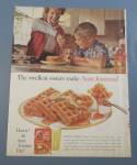 1963 Aunt Jemima Pancake Mix w/ Kids & Mom