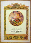 1926 Lucky Strike Cigarettes with Pack of Cigarettes