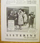 Click to view larger image of 1928 Listerine with People Standing Out in the Snow (Image3)