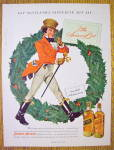Click to view larger image of 1949 Johnnie Walker Whiskey with Red Coat By Wreath (Image1)