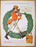 Click to view larger image of 1949 Johnnie Walker Whiskey with Red Coat By Wreath (Image2)