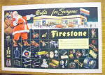Click to view larger image of 1945 Firestone with Santa Claus & Bag Of Toys (Image1)