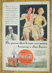 Click to view larger image of 1934 Coca Cola (Coke) with Two Women On Bikes (Image3)
