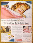 Click to view larger image of 1946 Simmons With Lovely Woman In Bed (Image1)