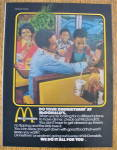 1976 McDonalds With Family Eating
