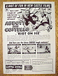 1949 Castle Films (Riot On Ice) with Abbott & Costello