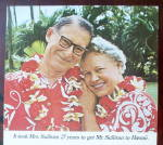 Click to view larger image of 1966 United Air Lines with a Couple in Hawaii (Image3)
