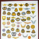 Click to view larger image of 1966 Boeing Air Lines with Variety Of Emblems (Image3)