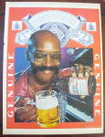1975 Budweiser Beer with Smiling Man Pouring Beer